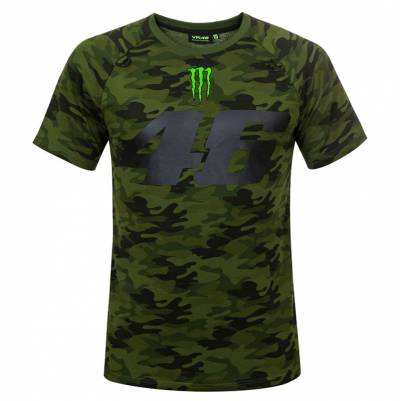 VR46 T-Shirt Monster Camp, camouflage