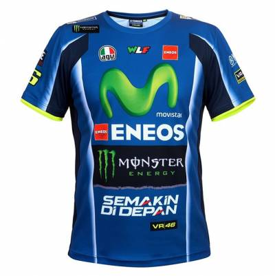 VR46 T-Shirt Replik Yamaha M1, blau royal