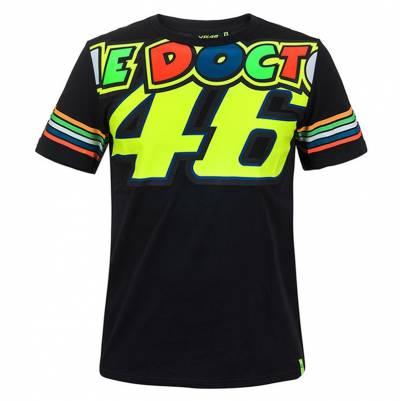 VR46 T-Shirt Stripes, schwarz