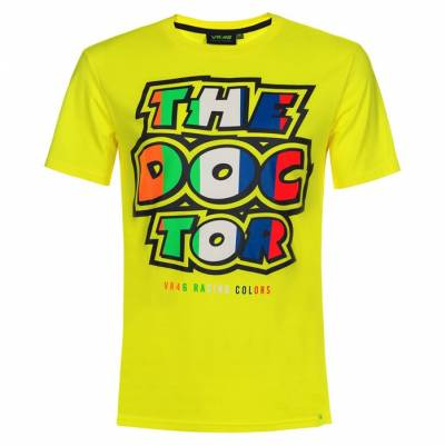 VR46 T-Shirt The Doctor, fluogelb