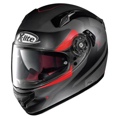 X-Lite Helm X-661 Point Croix, #25 schwarz-rot matt
