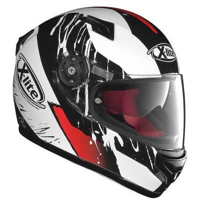 X-Lite Helm X-661 Spox N-Com, weiß-rot-schwarz