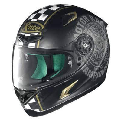 X-Lite Helm X-802RR Cafe Club, schwarz-gold matt